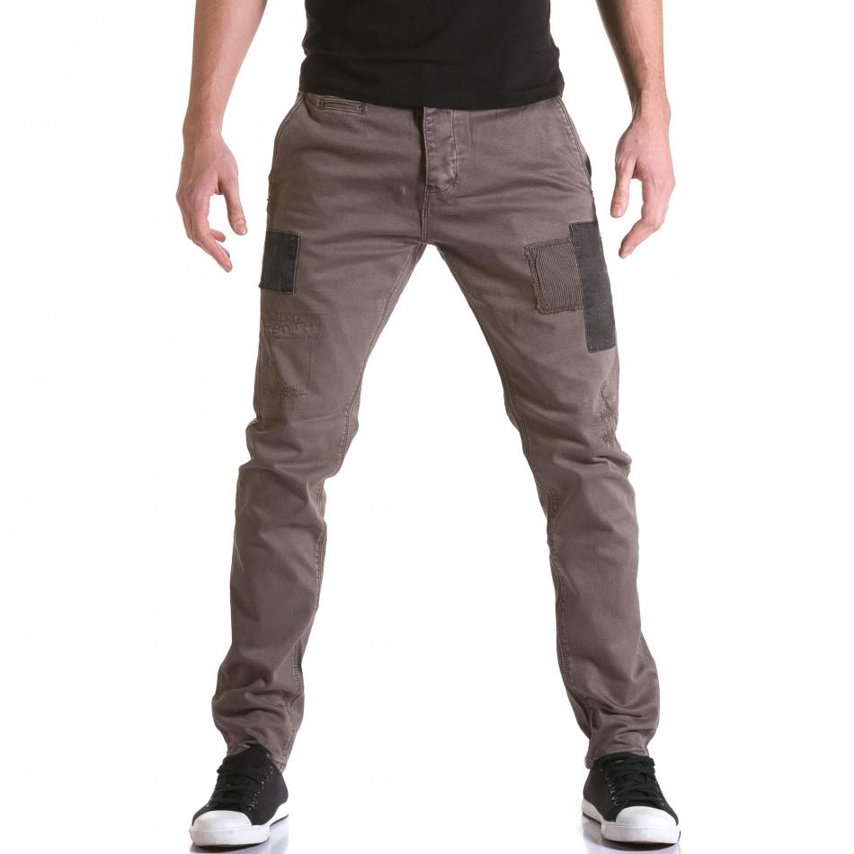 Ανδρικό καφέ παντελόνι Y-Two it031215-18