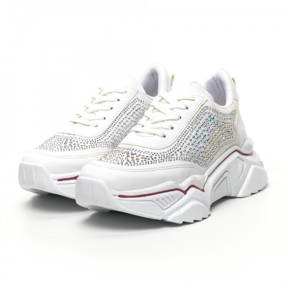 Γυναικεία λευκά sneakers Seribo tr180320-16