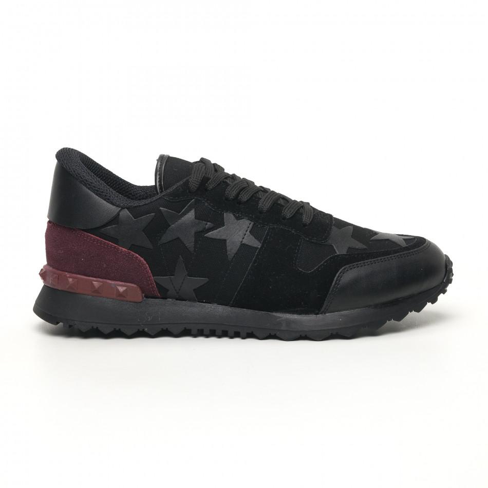 Ανδρικά μαύρα αθλητικά παπούτσια FM tr180320-27