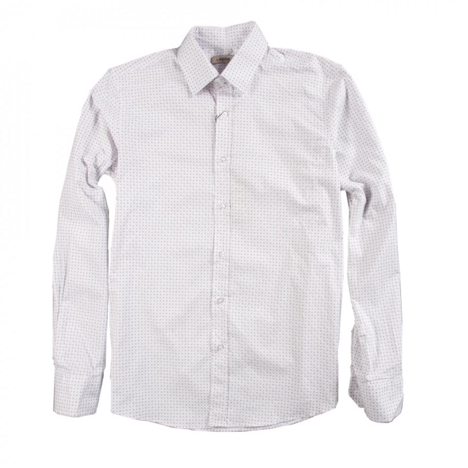 Ανδρικό λευκό πουκάμισο Lagos 080213-5
