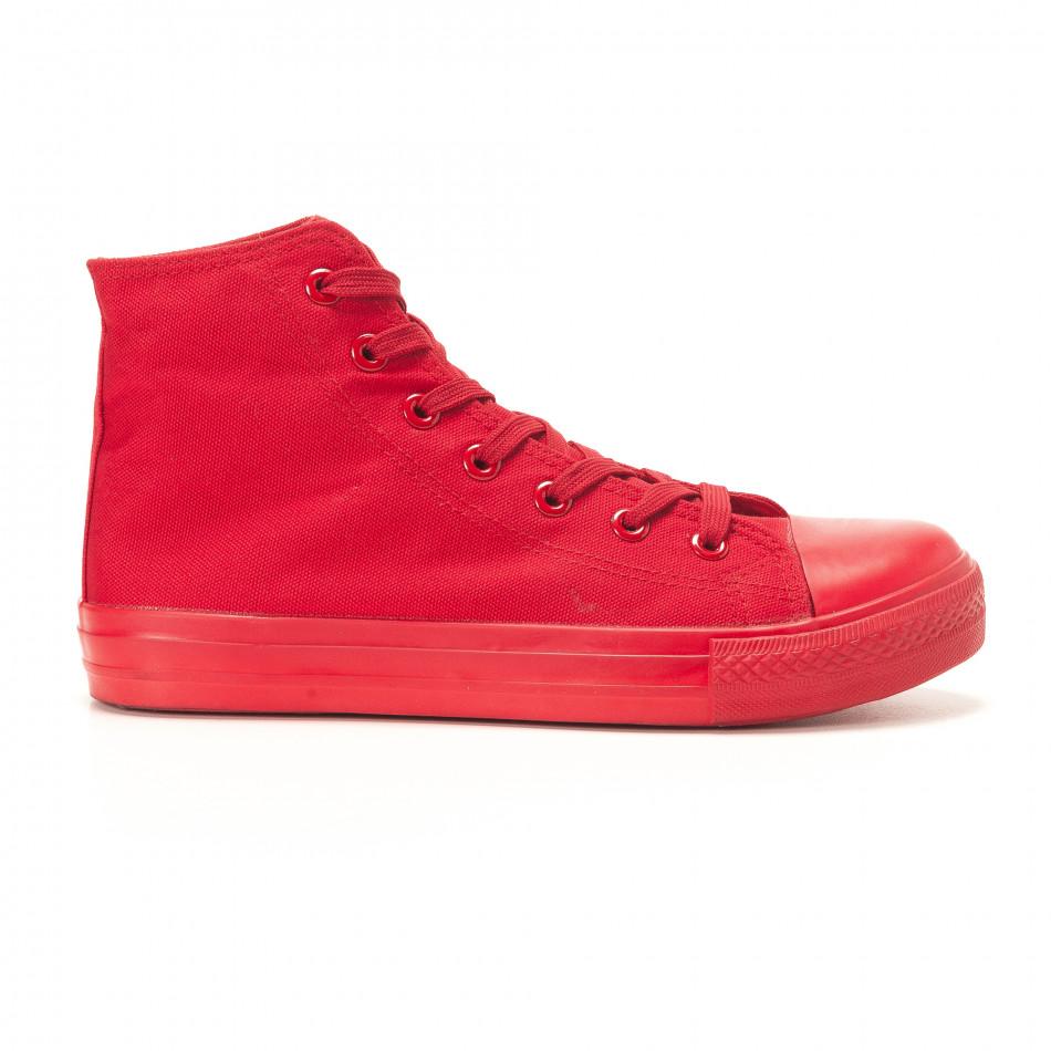 Ανδρικά κόκκινα sneakers iv220420-4