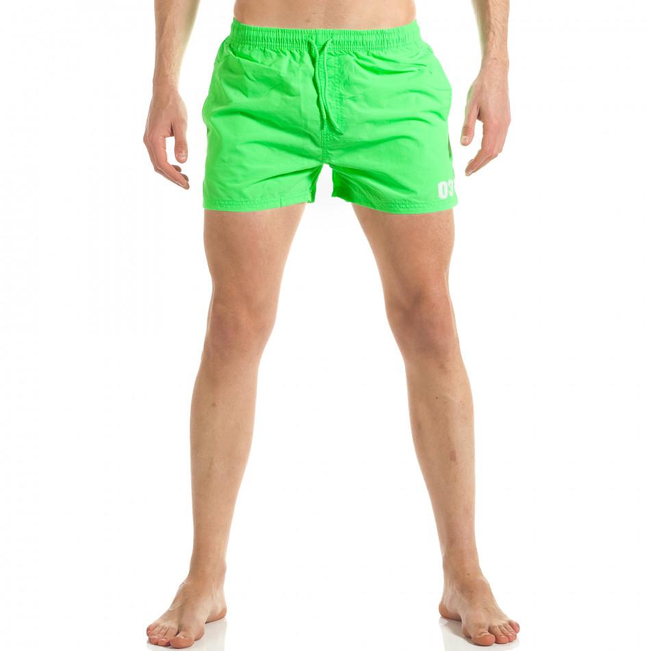 b97531517bee Ανδρικό πράσινο μαγιό New Mentality it300317-11 - Fashionmix.gr
