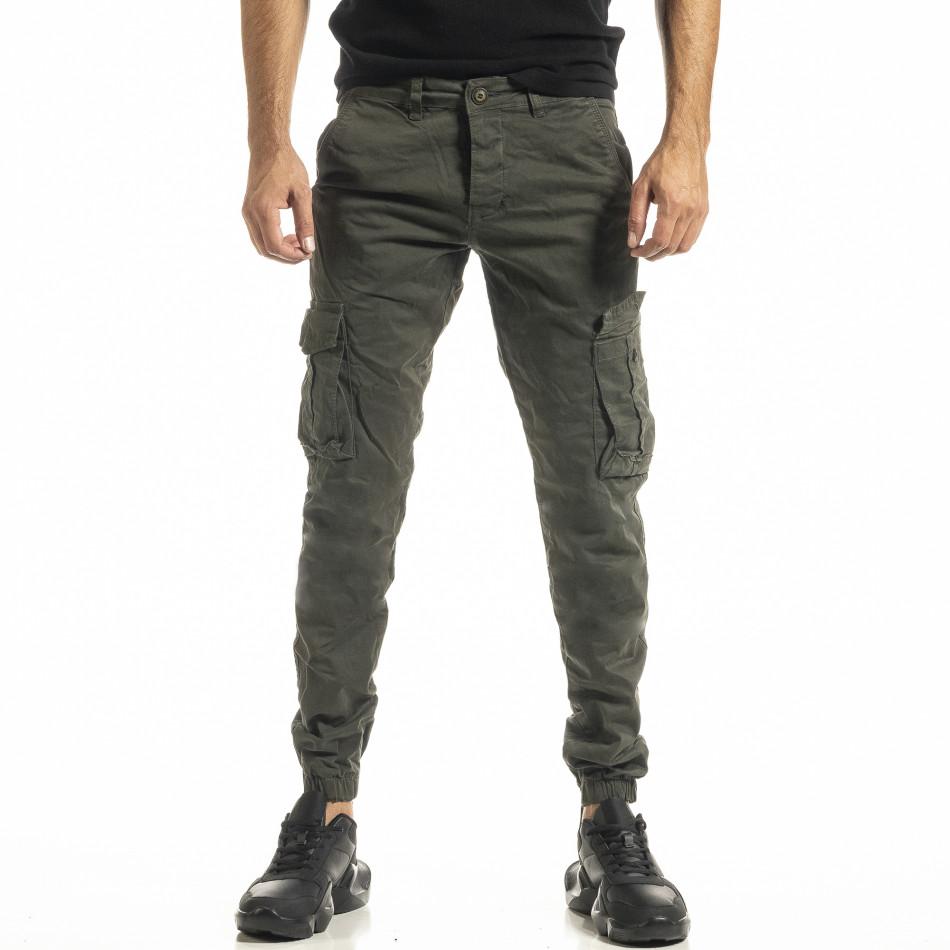 Ανδρικό πράσινο παντελόνι Cargo Jogger tr161220-19