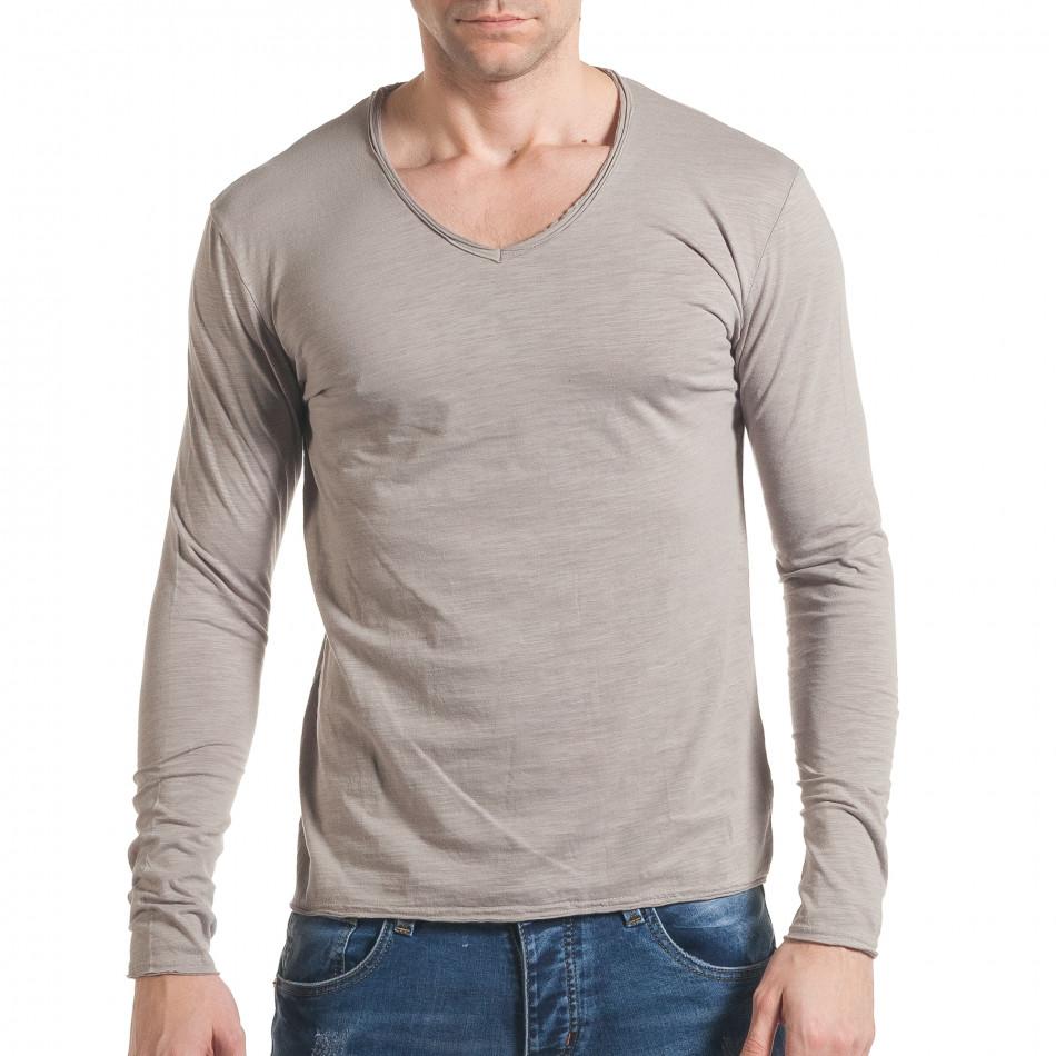 Ανδρική γκρι μπλούζα Y-Two it030217-23