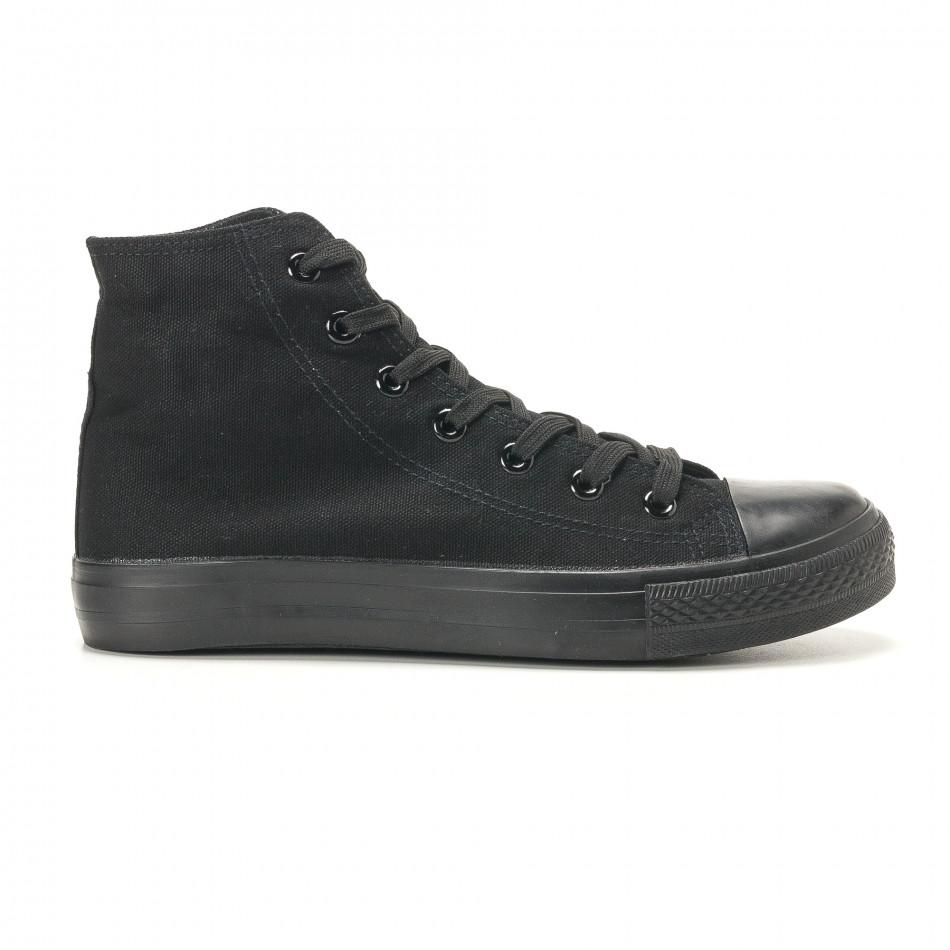 Ανδρικά μαύρα sneakers Bella Comoda it260117-46