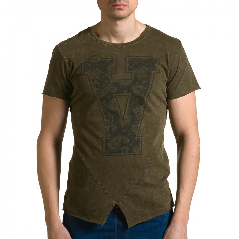 Ανδρική πράσινη κοντομάνικη μπλούζα Adrexx ca190116-46