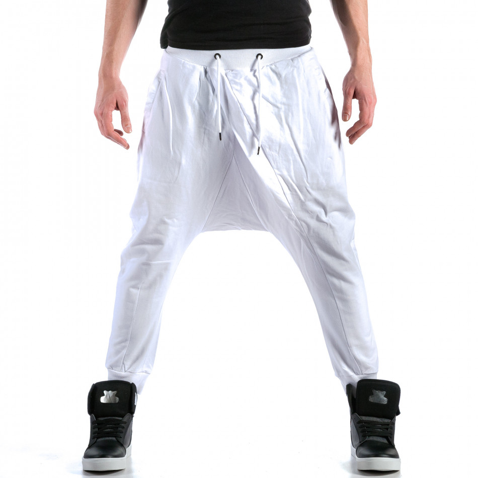 Ανδρικό λευκό παντελόνι jogger Bruno Leoni ca110215-15