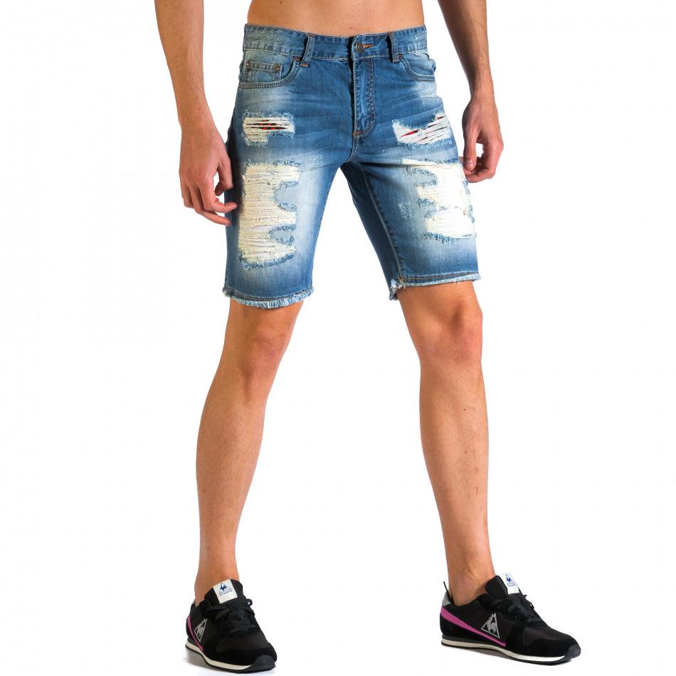 Ανδρικό γαλάζιο τζιν βερμούδα Always Jeans ca030414-2