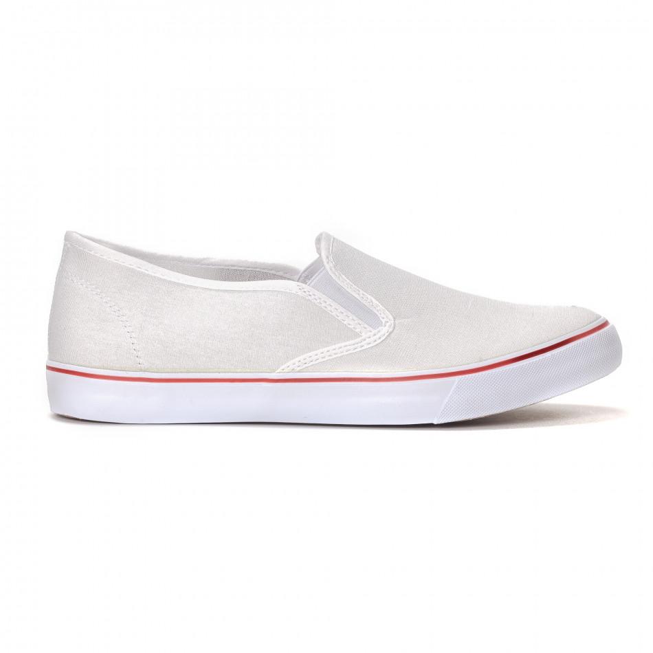 Ανδρικά λευκά sneakers slip-on  it240418-8