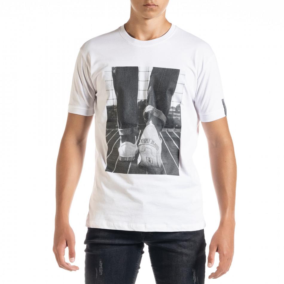 Ανδρική λευκή κοντομάνικη μπλούζα Freefly tr010720-31