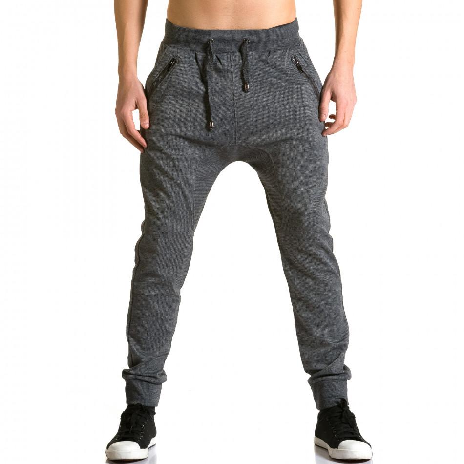 Ανδρικό γκρι παντελόνι jogger Furia Rossa ca190116-18