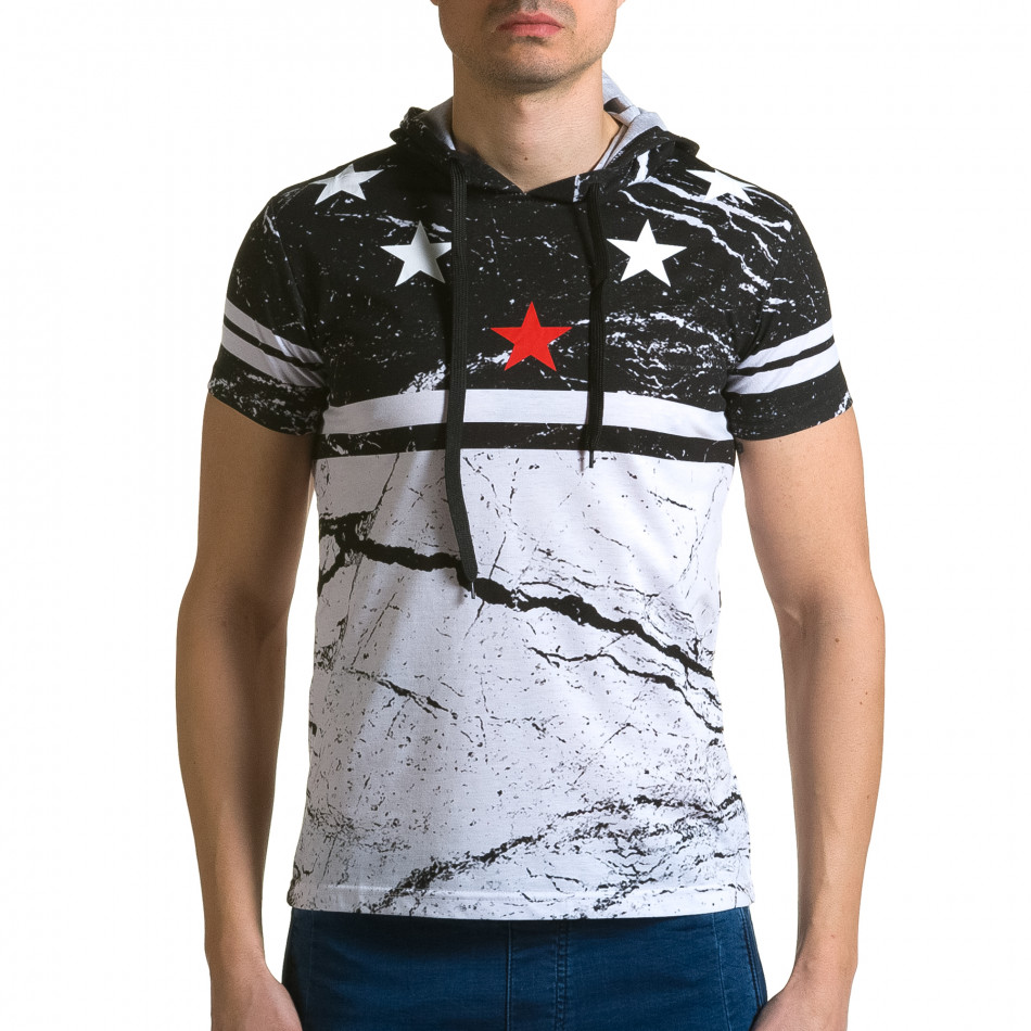 Ανδρική μαύρη κοντομάνικη μπλούζα Belman ca190116-40