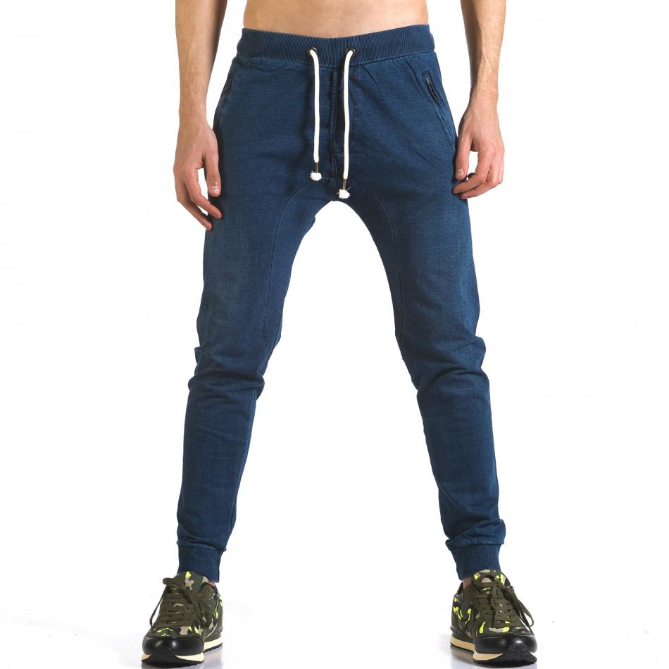 Ανδρικό γαλάζιο παντελόνι jogger Enos it090216-56