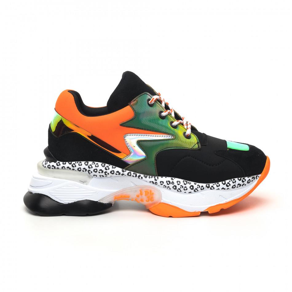Γυναικεία μαύρα sneakers Sense8 tr180320-15