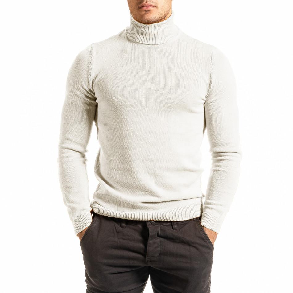 Ανδρικό λευκό πουλόβερ Lagos tr111220-3