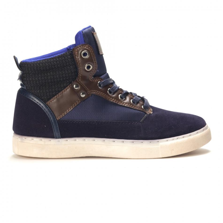 Ανδρικά γαλάζια sneakers Reeca it100915-21