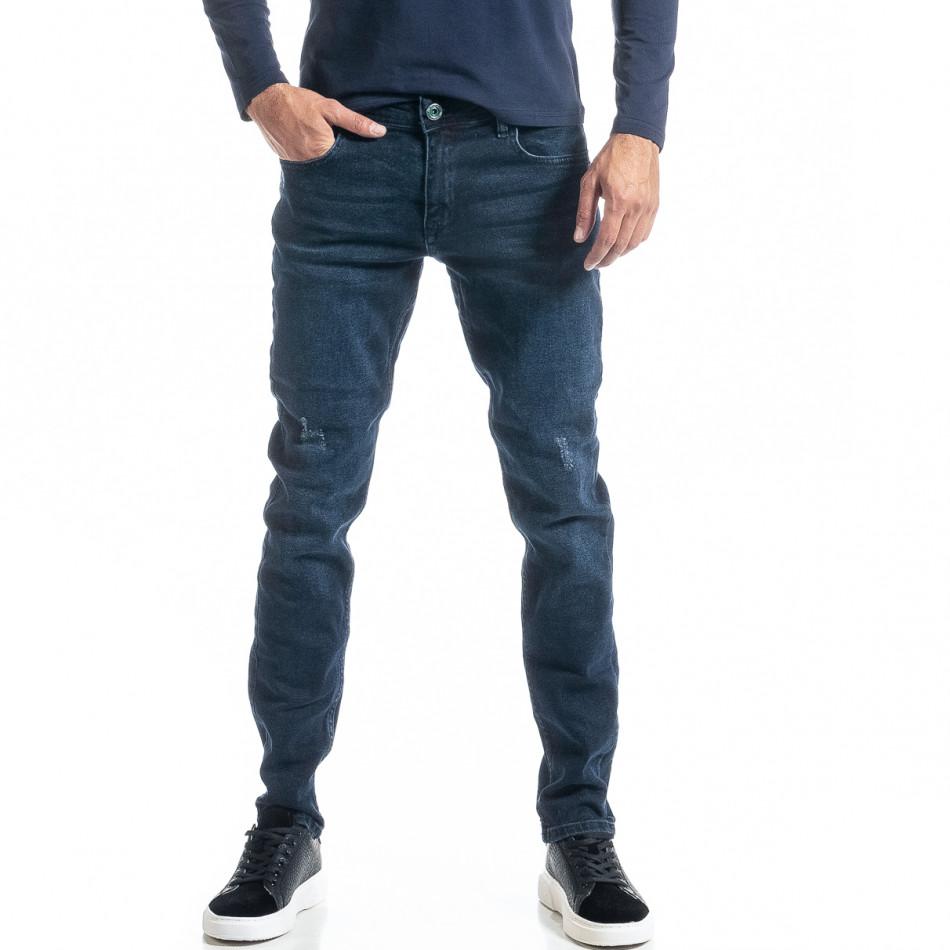Ανδρικό μπλε τζιν Long Slim tr300920-1