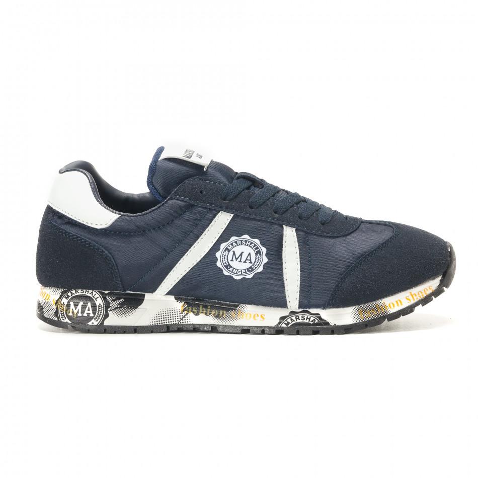 Ανδρικά γαλάζια αθλητικά παπούτσια Marshall it291117-37