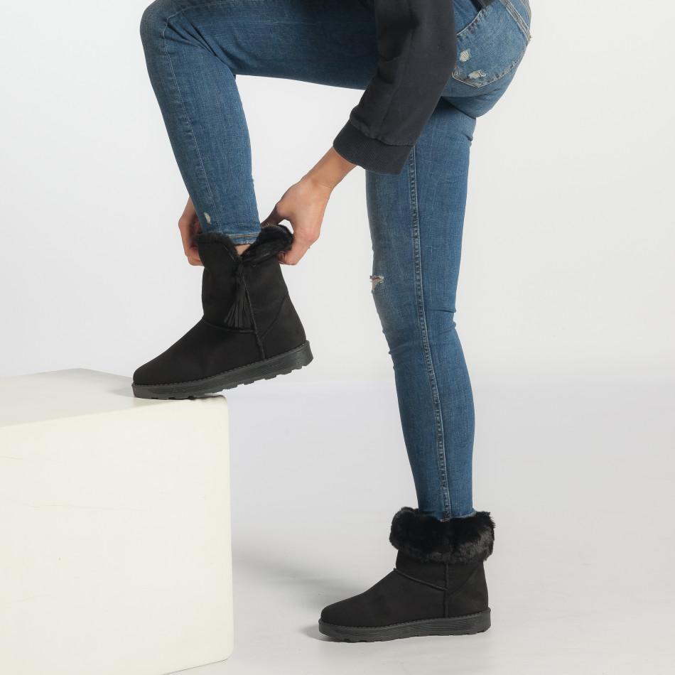 deff2edb11 Γυναικεία μαύρα μποτάκια GoGo it251017-29 - Fashionmix.gr