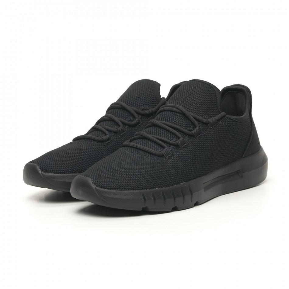 Ανδρικά αθλητικά παπούτσια ελαφρύ μοντέλο All Black it041119-4