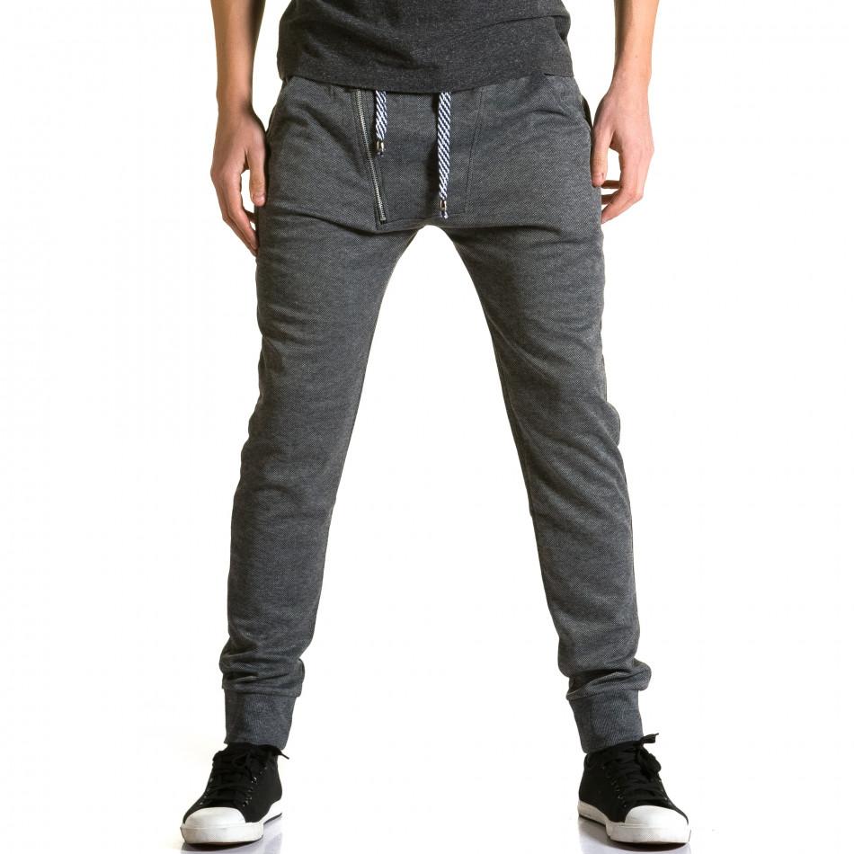 Ανδρικό γκρι παντελόνι jogger Furia Rossa ca190116-15