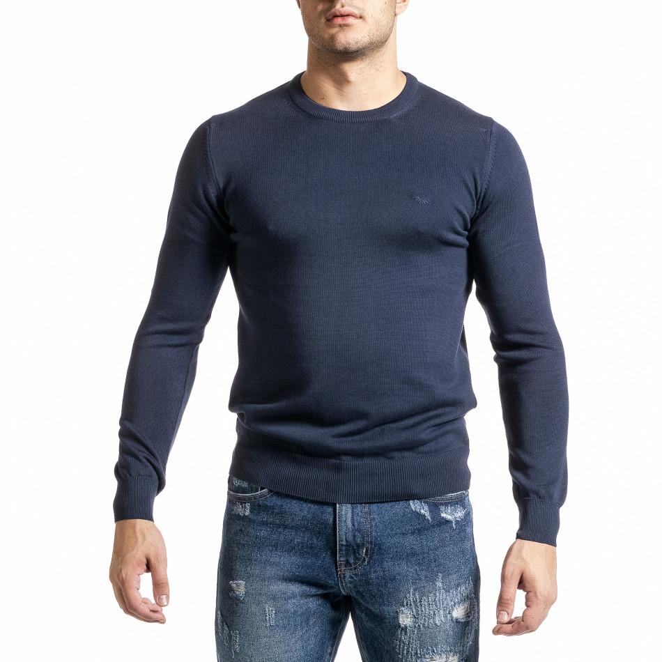 Ανδρικό γαλάζιο πουλόβερ Code Casual tr231220-2