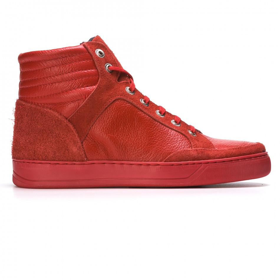 Ανδρικά κόκκινα sneakers Martin Pescatore It050216-4