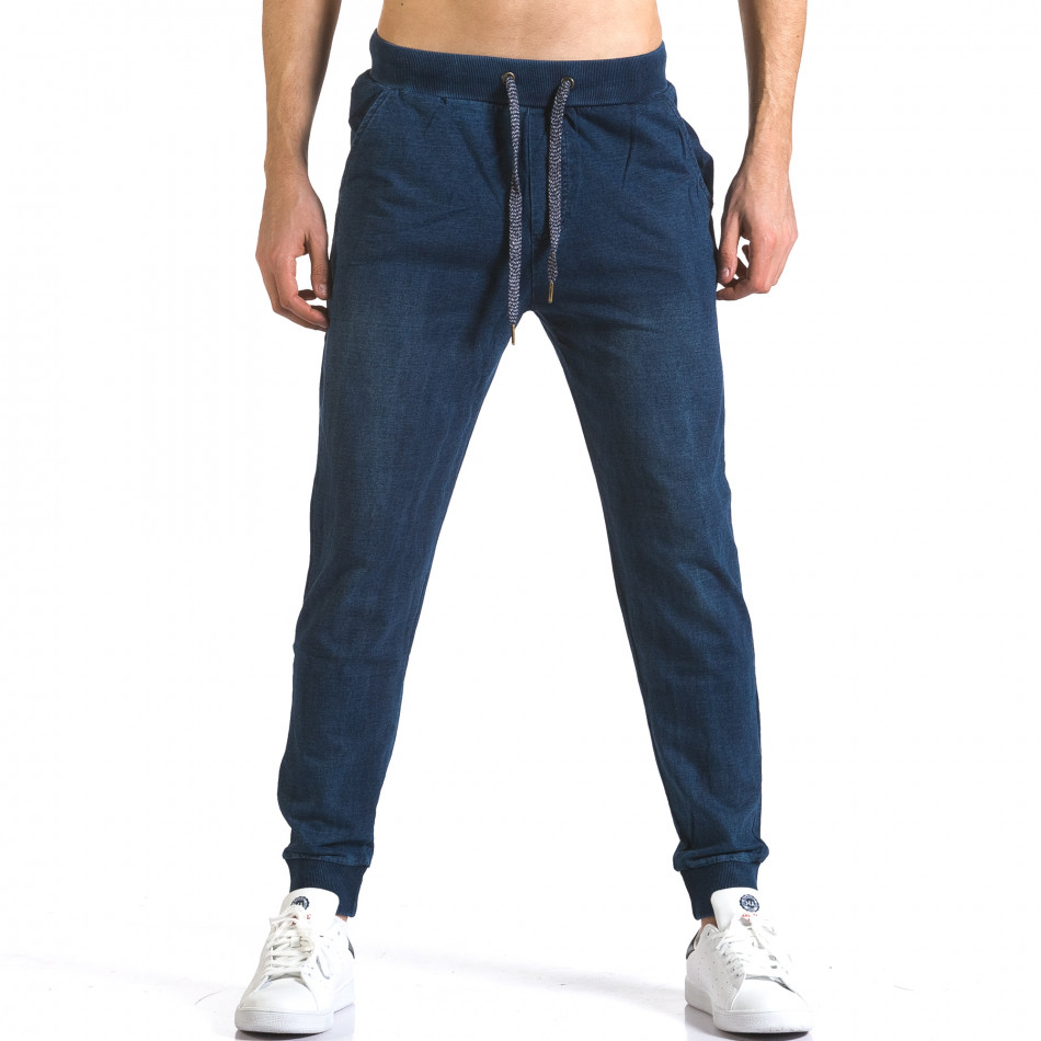 Ανδρικό γαλάζιο παντελόνι jogger Enos it090216-58