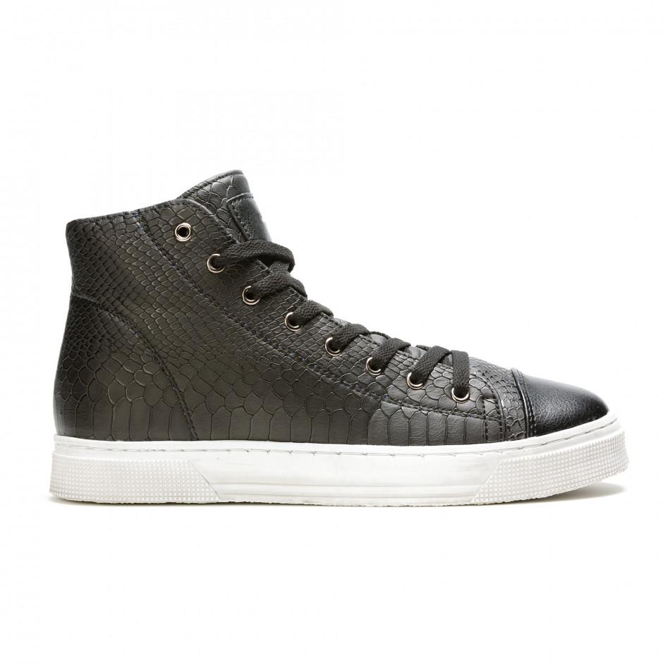 Ανδρικά μαύρα sneakers Niadi it100915-5