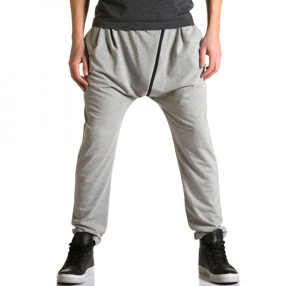 Ανδρικό γκρι παντελόνι jogger The Power ca110215-8