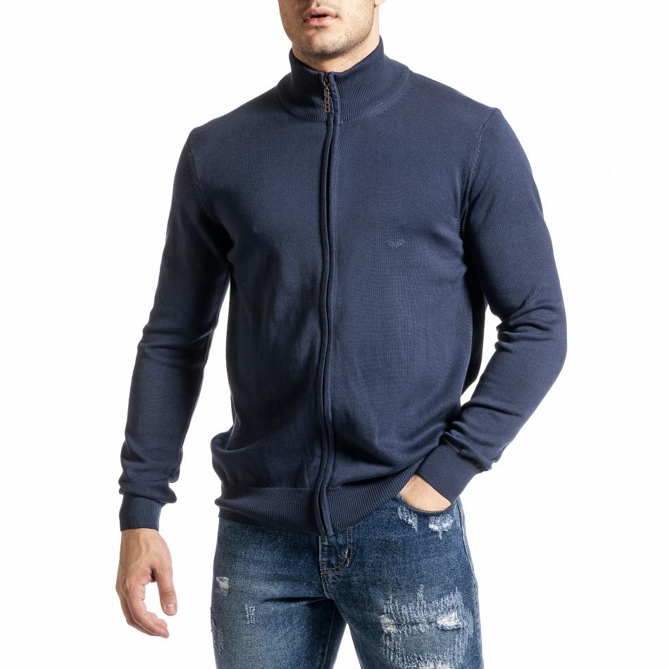 Ανδρικό γαλάζιο πουλόβερ Code Casual tr231220-7