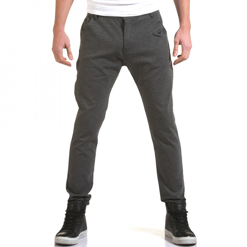 Ανδρικό γκρι παντελόνι Jack Berry it090216-1