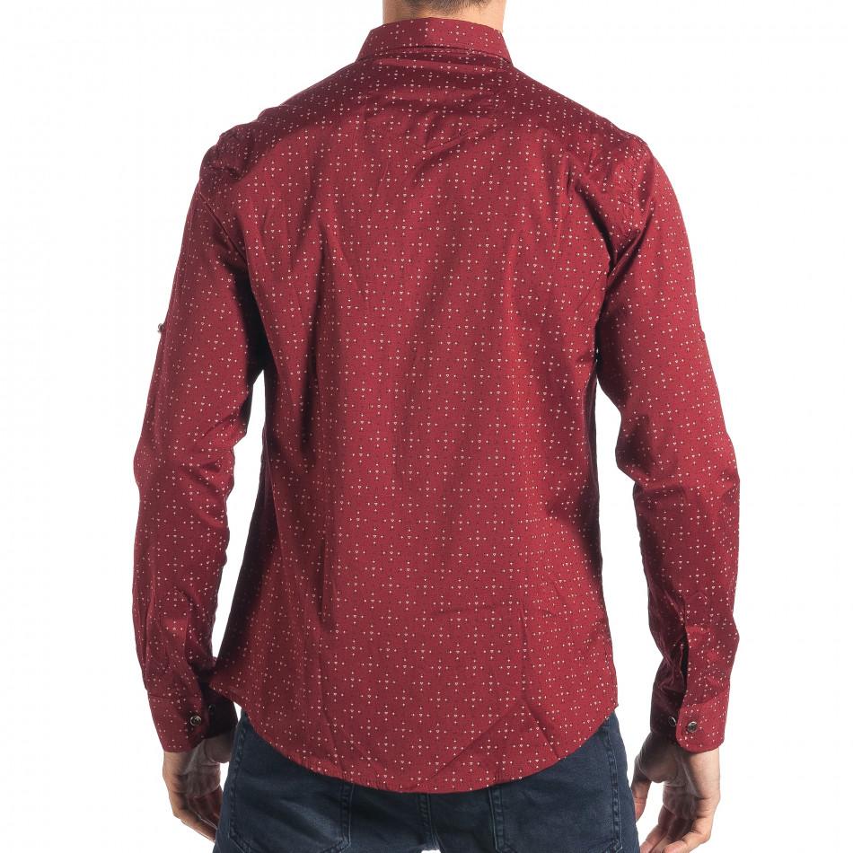 96648008e5a6 Ανδρικό κόκκινο πουκάμισο Mario Puzo tsf270917-5. Ανδρικό κόκκινο πουκάμισο  Mario Puzo. Φόρτωση