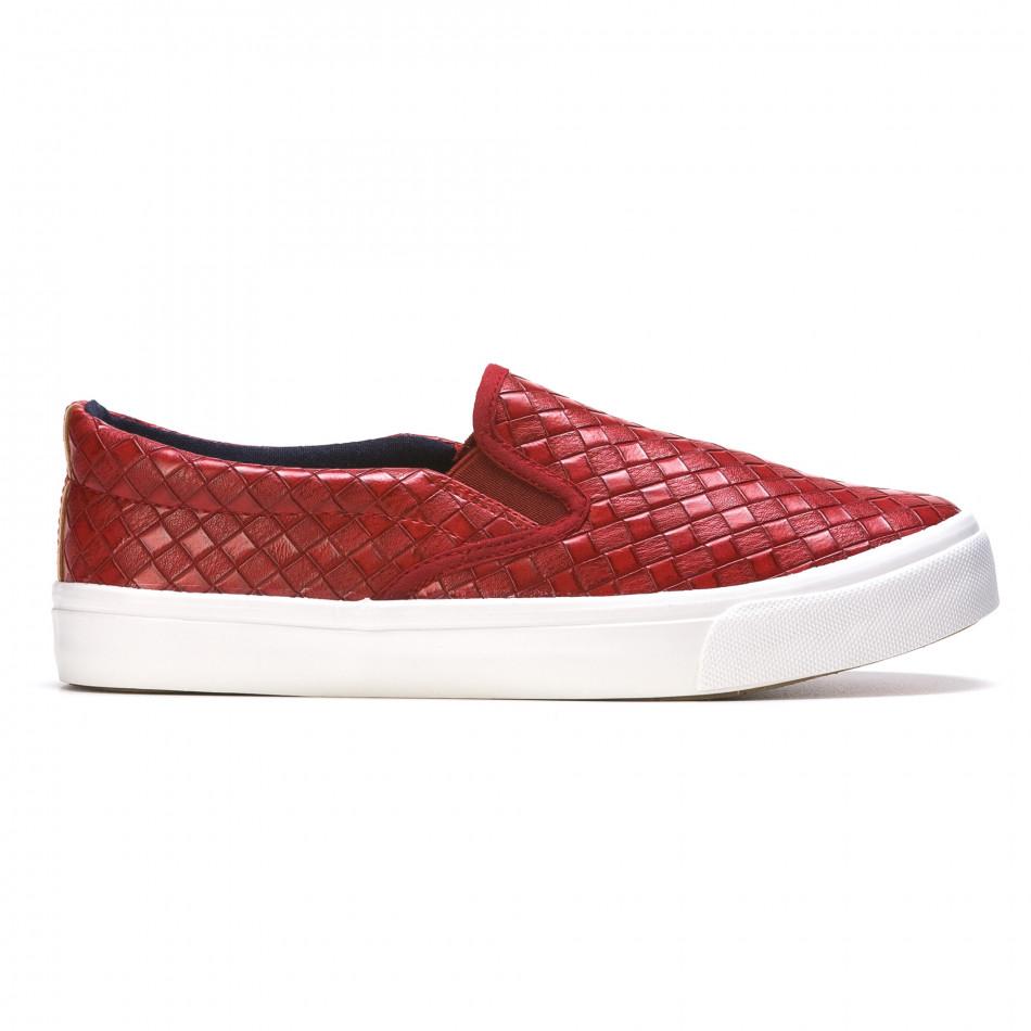 Ανδρικά κόκκινα sneakers Niweile It050216-8