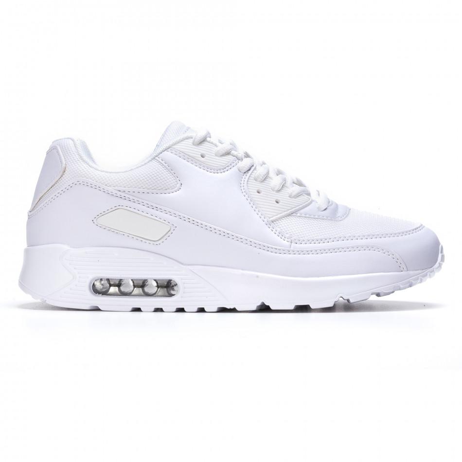 Ανδρικά λευκά αθλητικά παπούτσια Fast Lee It050216-5