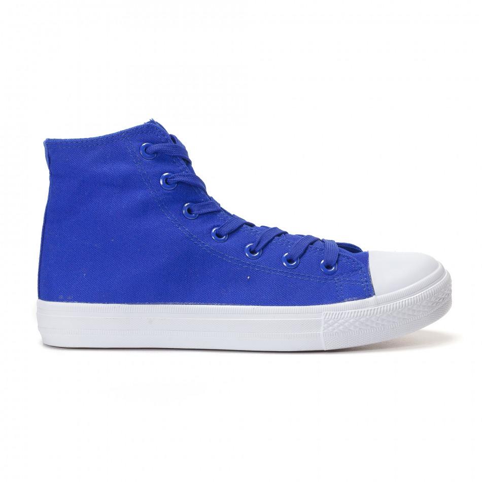 Ανδρικά γαλάζια sneakers Bella Comoda it250118-5