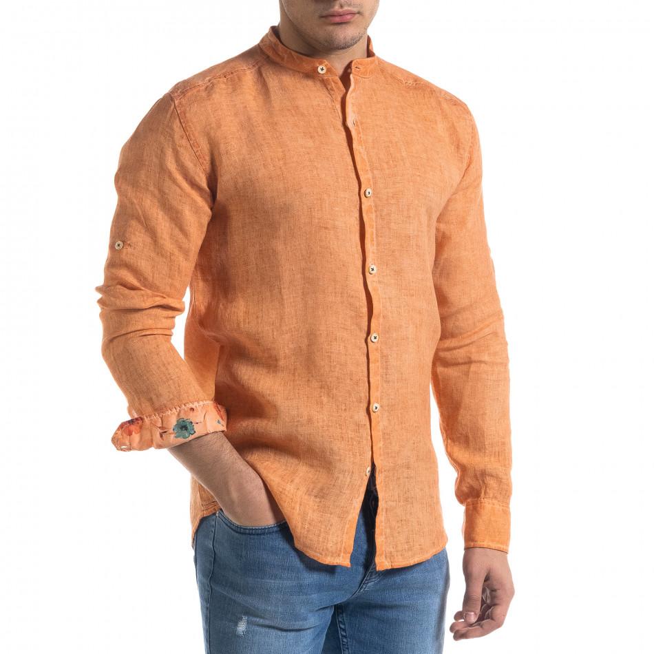 Ανδρικό πορτοκαλί πουκάμισο RNT23 tr110320-91