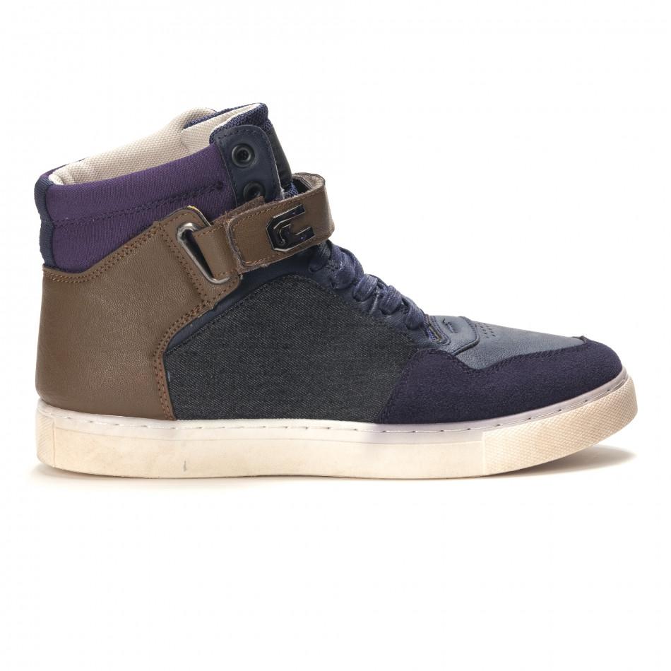 Ανδρικά γαλάζια sneakers Reeca it100915-19