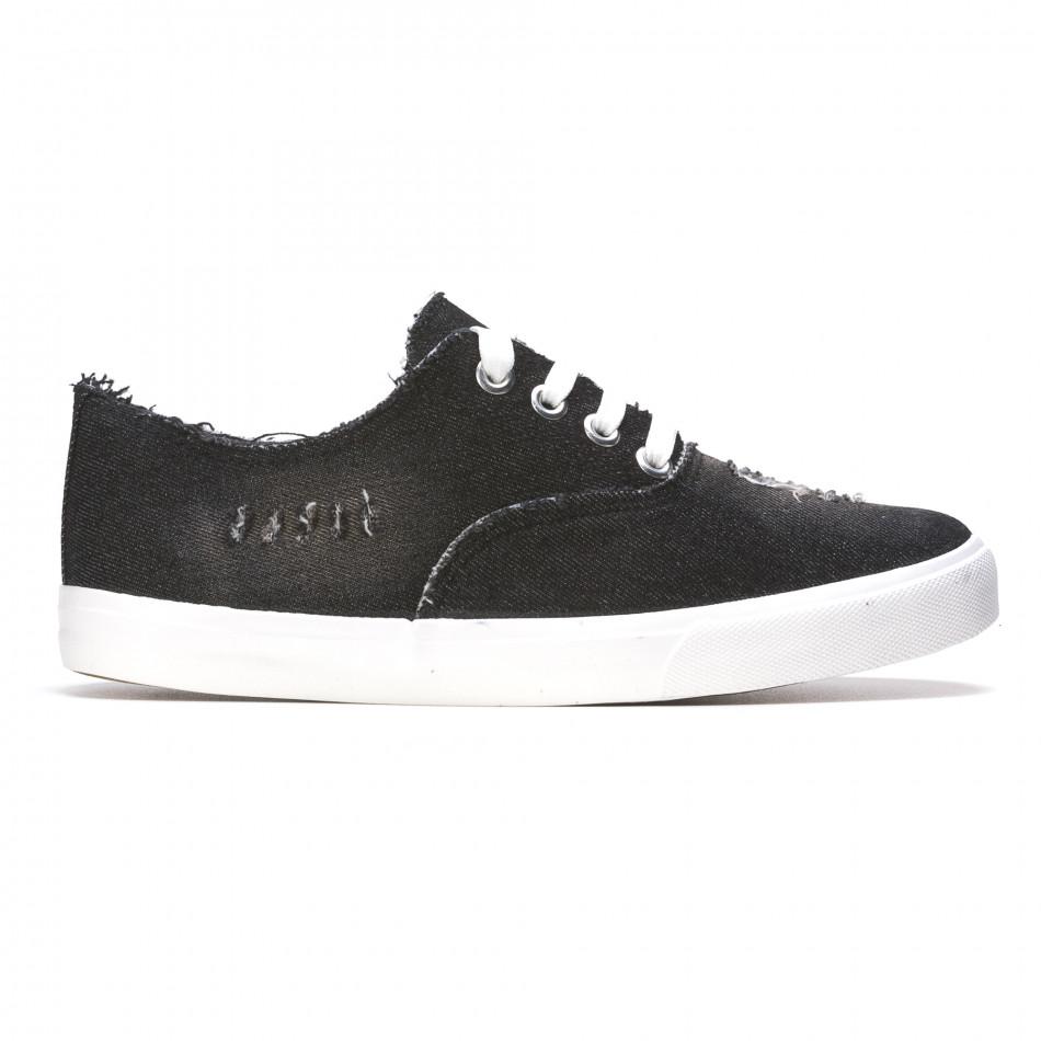 Ανδρικά μαύρα sneakers Gira Sole It050216-18