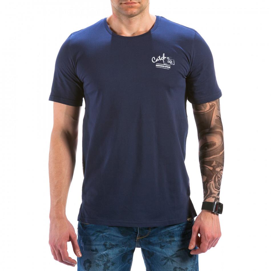 Ανδρική γαλάζια κοντομάνικη μπλούζα Catch il180215-94