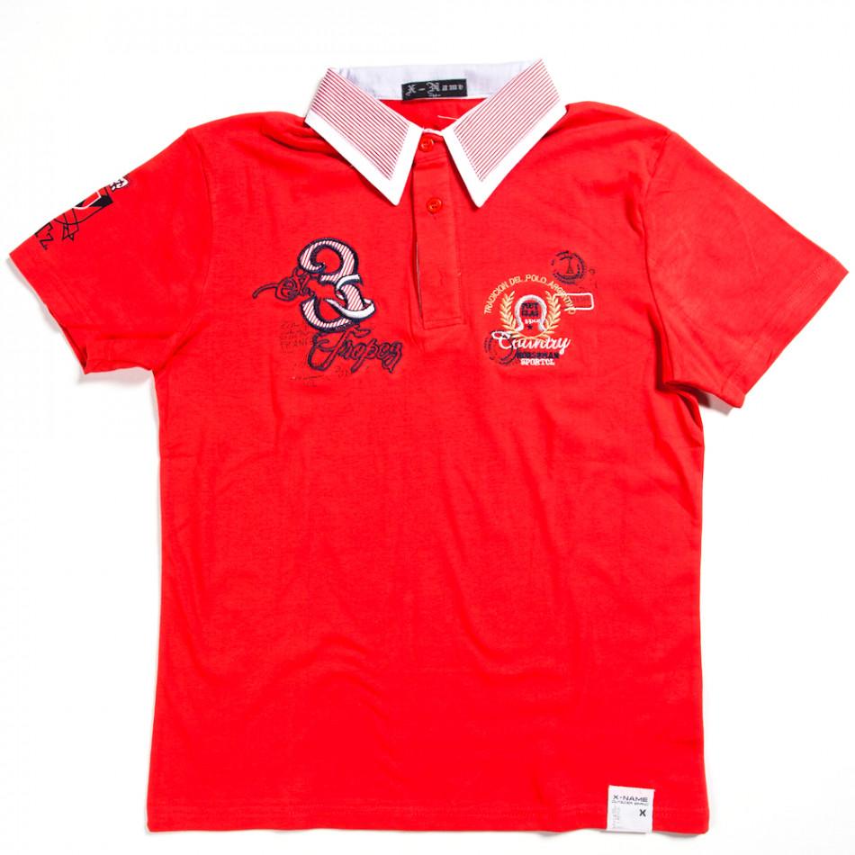 Ανδρική κόκκινη πολο X-Name 140313-28