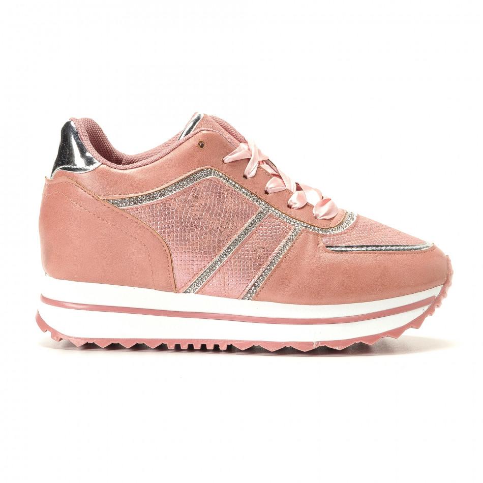 0aa8520692b Γυναικεία ροζ αθλητικά παπούτσια Brilliant it200917-49 - Fashionmix.gr