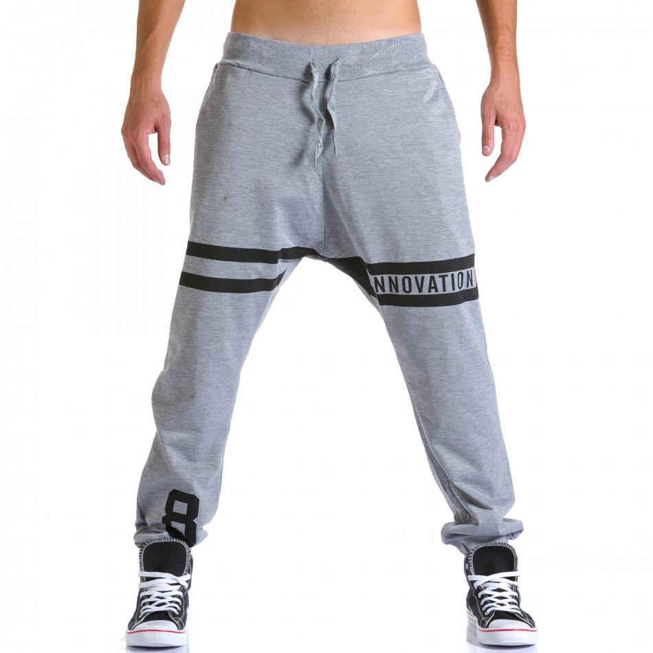 Ανδρικό γκρι παντελόνι jogger Eadae Wear ca260815-29