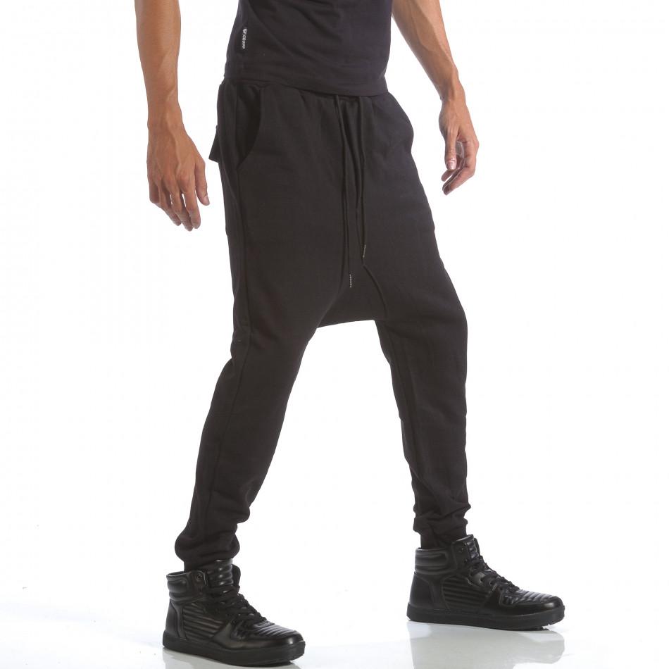 02e9fc5ad11 Ανδρική μαύρη φόρμα βράκα Uniplay it160817-137 - Fashionmix.gr