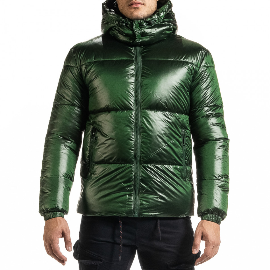 Ανδρικό πράσινο χειμωνιάτικο μπουφάν Duca Homme it301020-5
