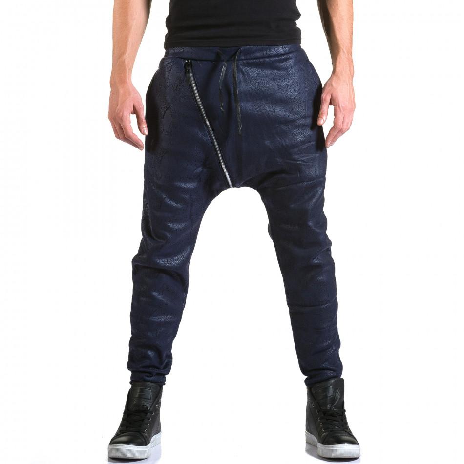 Ανδρικό γαλάζιο παντελόνι jogger Top Star it211015-59