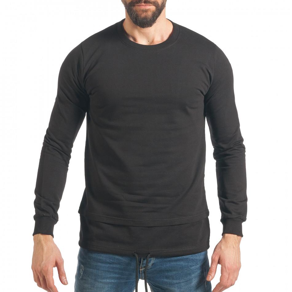 Ανδρικό μαύρο φούτερ RHUM22 it290118-101