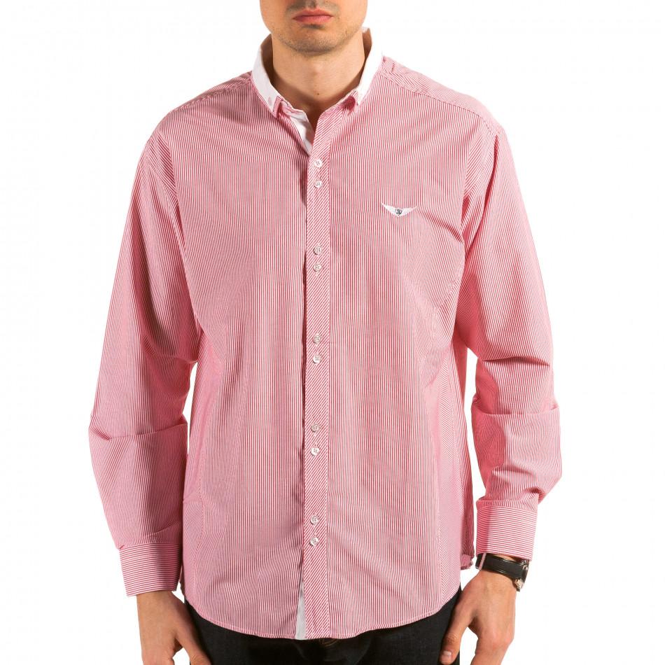 Ανδρικό κόκκινο πουκάμισο Royal Kaporal il180215-178