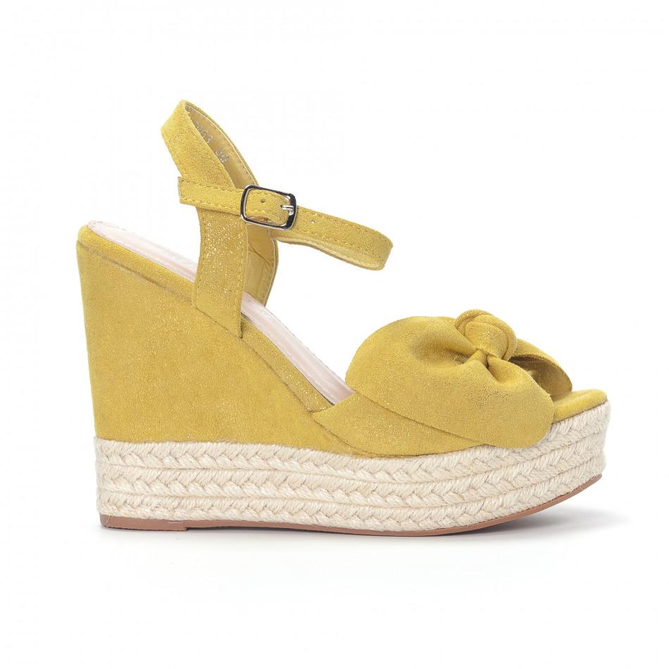 Γυναικείες κίτρινες πλατφόρμες it230418-39
