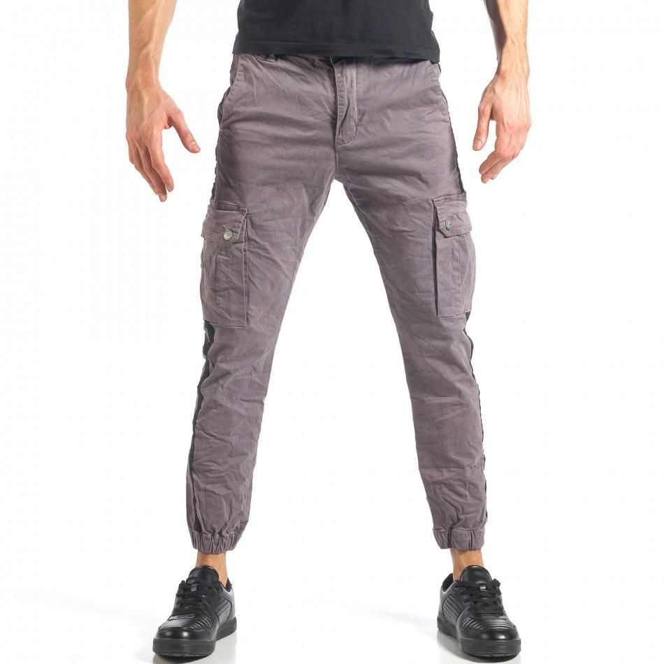Ανδρικό γκρι παντελόνι Always Jeans it290118-12